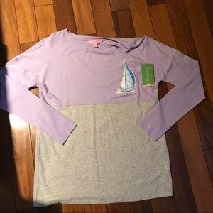 NWT Lilly Pulitzer Finn Tee in Aboat Time Size XS